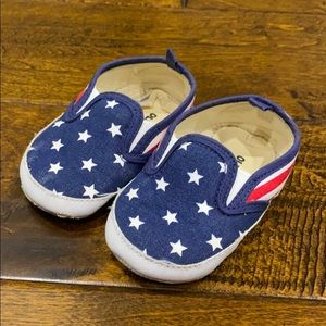 Old Navy Slip Ons Sz 6-12mo Baby 4th of July
